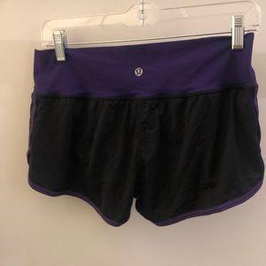 lululemon athletica Shorts - Lululemon black and purple shorts, sz 8, 70657